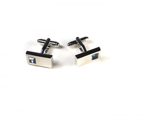Blue Rectangle Stone Cufflinks