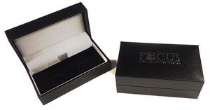 Silver Two Tone Quarter Cufflinks