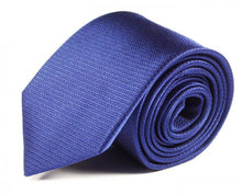 Load image into Gallery viewer, Blue Woven Silk Tie by Focus Ties (The Galeras - Premium High Quality Silk Business / Wedding Necktie)