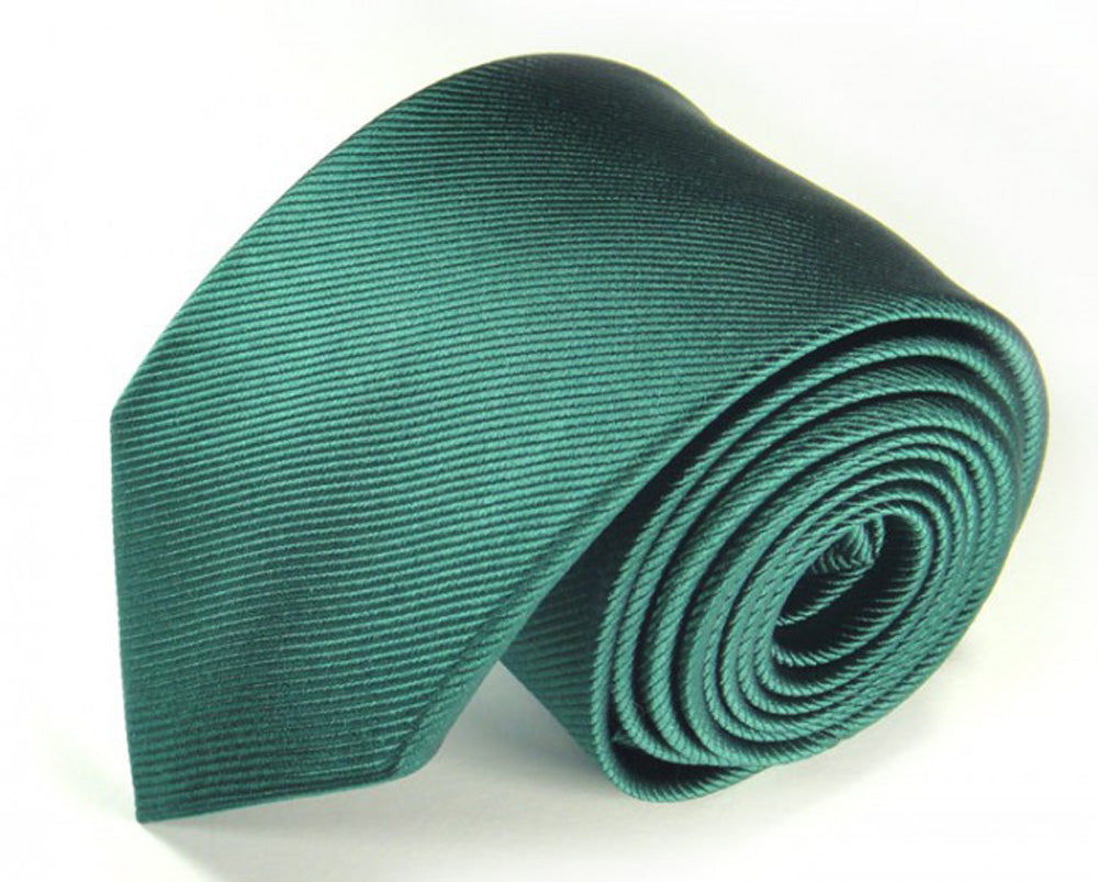 Green Solid, Woven Silk Tie by Focus Ties (The Nile - Premium High Quality Silk Business / Wedding Necktie)