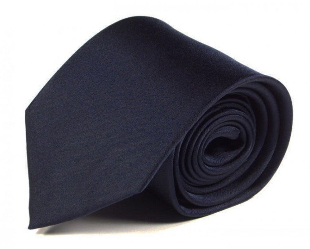 Blue Solid Silk Tie by Focus Ties (The Ruiz - Premium High Quality Silk Business / Wedding Necktie)