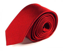 Load image into Gallery viewer, Red Woven Silk Tie by Focus Ties (The Karthala - Premium High Quality Silk Business / Wedding Necktie)