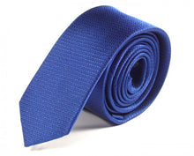 Load image into Gallery viewer, Blue Woven Silk Tie by Focus Ties (The Arenal - Premium High Quality Silk Business / Wedding Necktie)