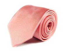 Load image into Gallery viewer, Pink Solid, Striped Silk Tie by Focus Ties (The Irazu - Premium High Quality Silk Business / Wedding Necktie)