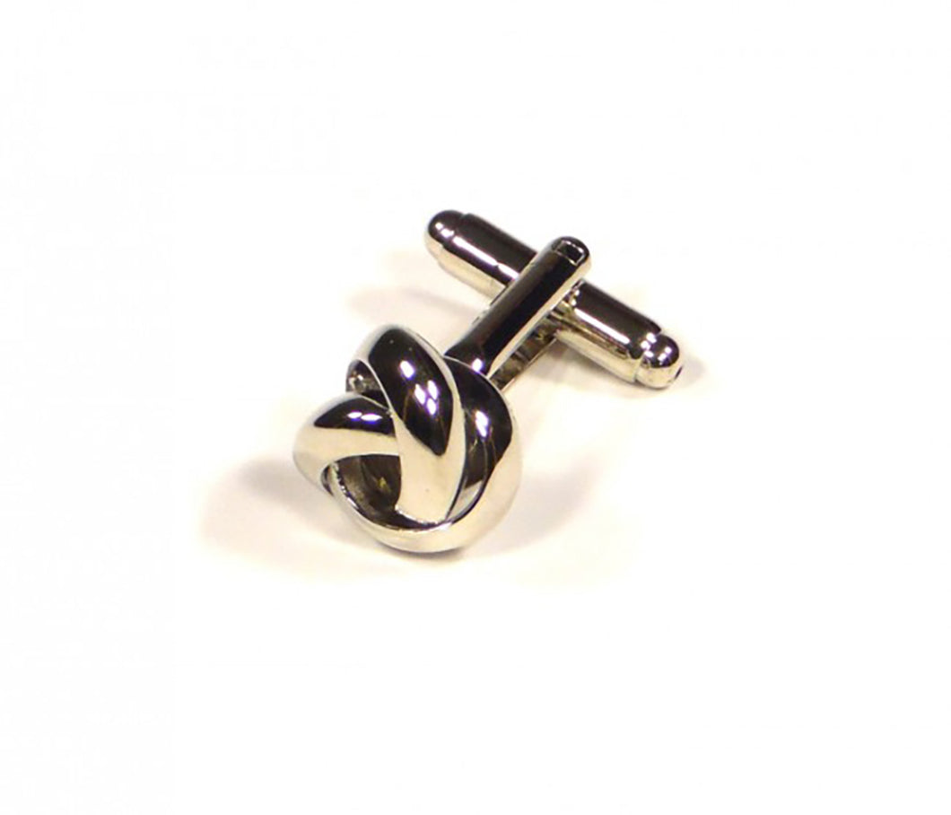 Silver Thick Knots Cufflinks (Premium High Quality Business / Wedding Accessories by Focus Ties)