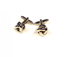 Load image into Gallery viewer, Silver Thick Knots Cufflinks