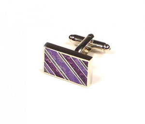 Purple Pattern Cufflinks (Premium High Quality Business / Wedding Accessories by Focus Ties)