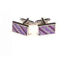 Load image into Gallery viewer, Purple Pattern Cufflinks