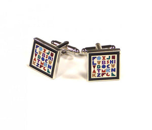 Rainbow Alphabet Cufflinks