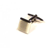 Load image into Gallery viewer, Silver Bevelled Cufflinks (Premium High Quality Business / Wedding Accessories by Focus Ties)
