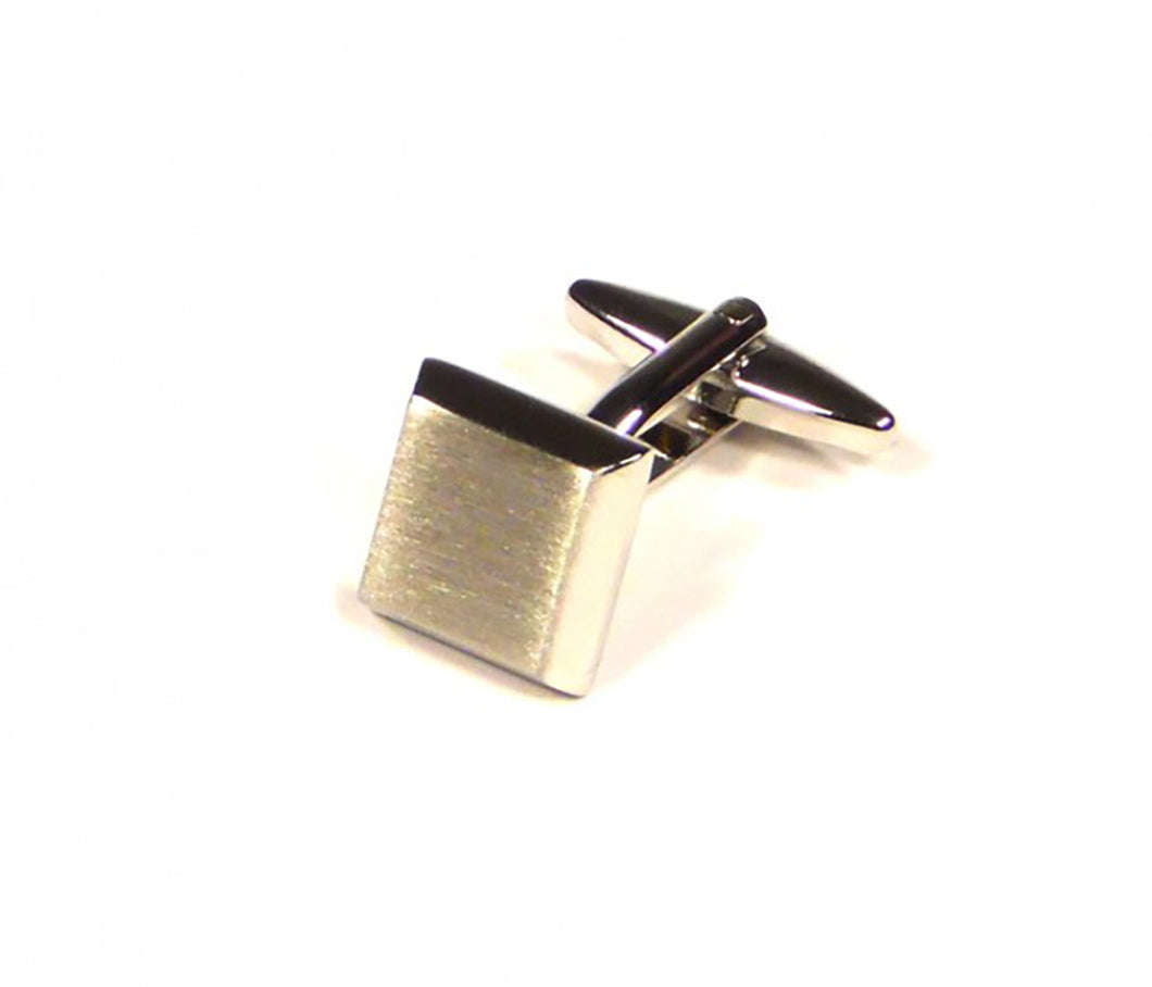 Silver Bevelled Cufflinks (Premium High Quality Business / Wedding Accessories by Focus Ties)