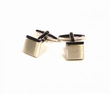 Load image into Gallery viewer, Silver Bevelled Cufflinks