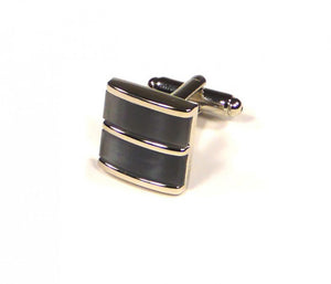 Grey Blue Split Cufflinks (Premium High Quality Business / Wedding Accessories by Focus Ties)