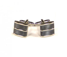 Load image into Gallery viewer, Grey Blue Split Cufflinks