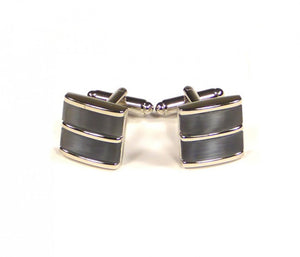 Grey Blue Split Cufflinks