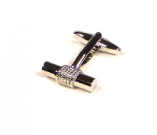 Load image into Gallery viewer, Silver Bar Cufflinks (Premium High Quality Business / Wedding Accessories by Focus Ties)