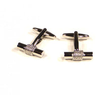 Load image into Gallery viewer, Silver Bar Cufflinks