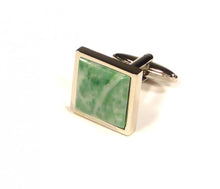 Load image into Gallery viewer, Green Marbling Cufflinks (Premium High Quality Business / Wedding Accessories by Focus Ties)