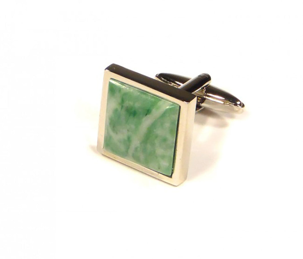 Green Marbling Cufflinks (Premium High Quality Business / Wedding Accessories by Focus Ties)