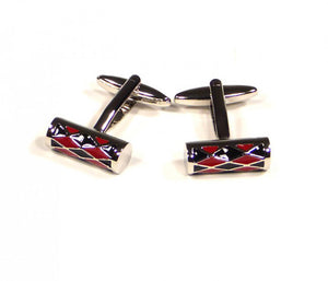 Red Black Drum Cufflinks