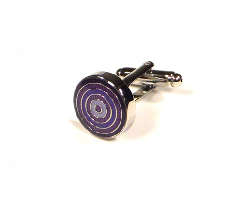 Purple Round Targets Cufflinks (Premium High Quality Business / Wedding Accessories by Focus Ties)