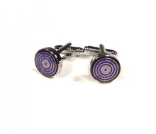 Load image into Gallery viewer, Purple Round Targets Cufflinks