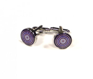 Purple Round Targets Cufflinks