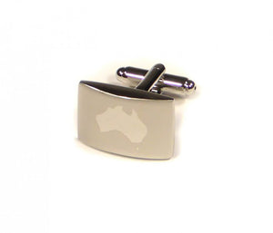 Silver Australia Cufflinks (Premium High Quality Business / Wedding Accessories by Focus Ties)