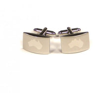 Load image into Gallery viewer, Silver Australia Cufflinks