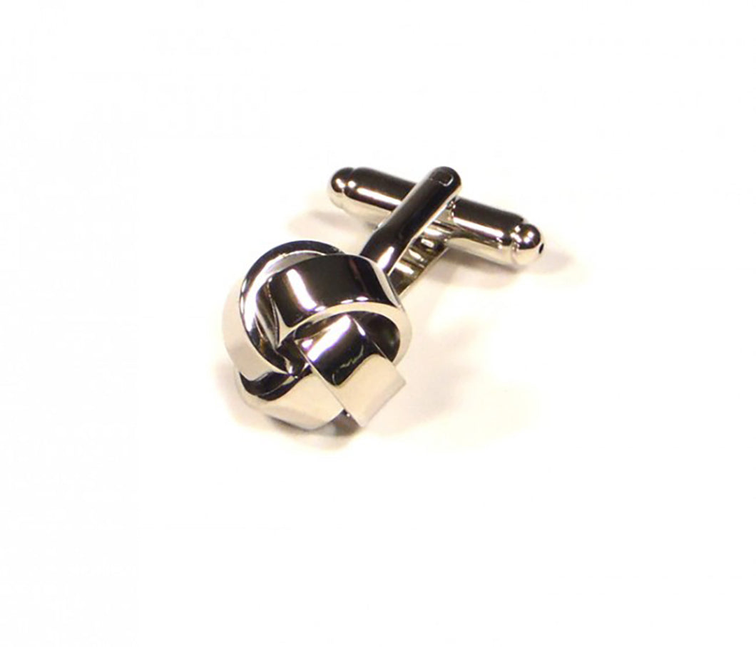 Silver Knots Cufflinks (Premium High Quality Business / Wedding Accessories by Focus Ties)