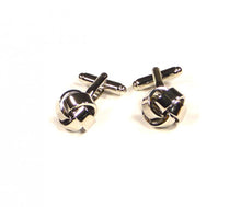 Load image into Gallery viewer, Silver Knots Cufflinks