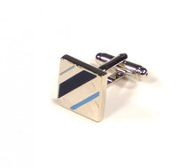 Load image into Gallery viewer, Blue Diagonal Cufflinks (Premium High Quality Business / Wedding Accessories by Focus Ties)