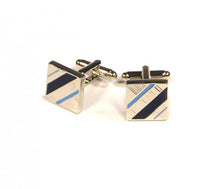 Load image into Gallery viewer, Blue Diagonal Cufflinks