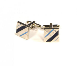 Blue Diagonal Cufflinks