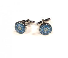 Load image into Gallery viewer, Blue Round Targets Cufflinks