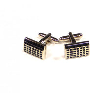 Load image into Gallery viewer, Black Grid Pattern Cufflinks