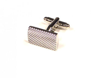 Silver Raised Pattern Cufflinks (Premium High Quality Business / Wedding Accessories by Focus Ties)