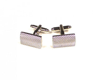Silver Raised Pattern Cufflinks