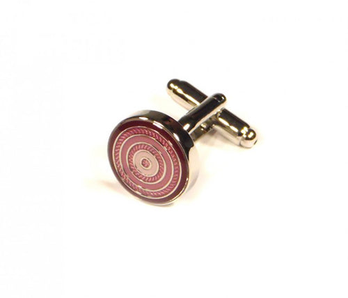 Red Round Targets Cufflinks (Premium High Quality Business / Wedding Accessories by Focus Ties)