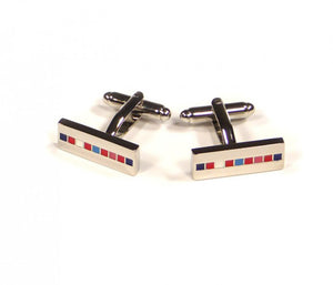 Rainbow Stripe Rectangle Cufflinks