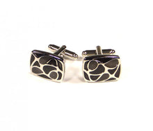Load image into Gallery viewer, Black Pattern Cufflinks