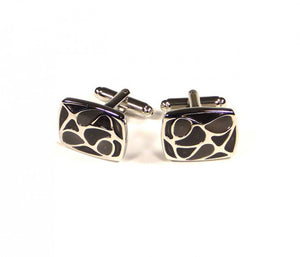 Black Pattern Cufflinks
