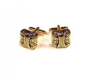 Gold Pattern Cufflinks