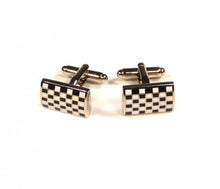Load image into Gallery viewer, Black White Grid Cufflinks