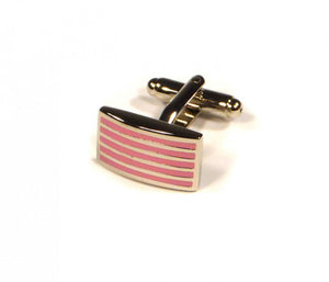 Pink Thin Stripe Cufflinks (Premium High Quality Business / Wedding Accessories by Focus Ties)