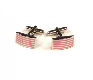 Pink Thin Stripe Cufflinks