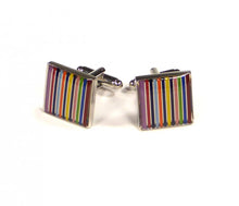 Load image into Gallery viewer, Rainbow Stripe Cufflinks