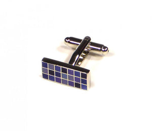 Purple Rectangle Grid Cufflinks (Premium High Quality Business / Wedding Accessories by Focus Ties)