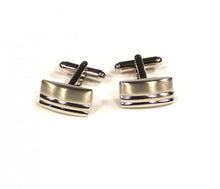 Load image into Gallery viewer, Rectangle Two Stripe Cufflinks