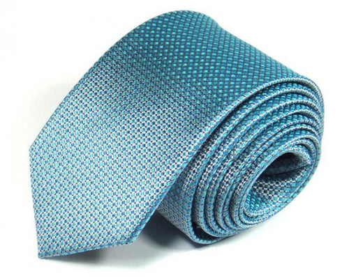 Blue Woven Silk Tie by Focus Ties (The Aurora - Premium High Quality Silk Business / Wedding Necktie)